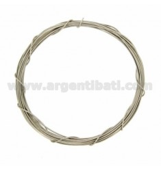 COIL WIRE MODELLABILE SILVER 0,7 MM SILBER RHODIUM TIT 925 ‰