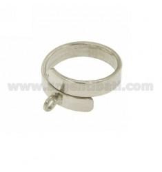 BASE RING BAND SERPENT MM 4,5 Silber Rhodium TIT 925 ‰, größenverstellbar