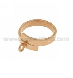 BASE RING BAND SERPENT MM 4.5 SILVER ROSE GOLD PLATED TIT 925 ‰ ADJUSTABLE FIT