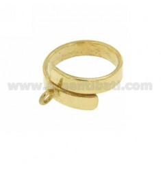 BASE BAND SERPENT RING 4.5 MM SILVER GOLD PLATED TIT 925 ‰ ADJUSTABLE FIT