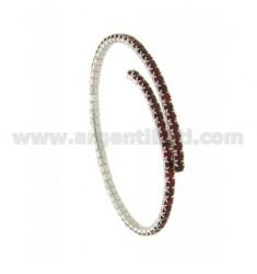 Tennis Armband MIT SEMI RIGID Zirkone 2,5 MM Silber Rhodium TIT 925