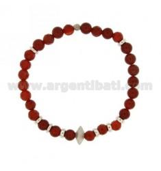 Bracelet Bangle CORNIOLA MM WITH 6 ELEMENTS SILVER 925 TIT