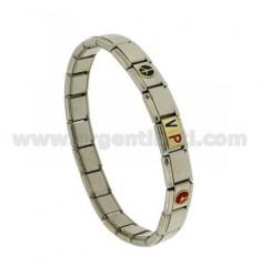 BRACELET Stahlband mit 9 mm 3 ANWENDUNGEN VIP GLAZED GOLD 750 ‰