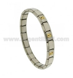 BRACELET Stahlband mit 9 mm 3 ANWENDUNGEN Orsetti ENAMELLED GOLD 750 ‰