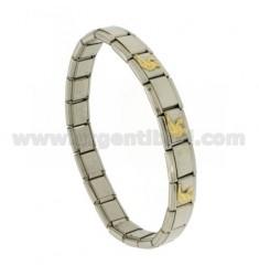 BRACELET Stahlband mit 9 mm 3 ANWENDUNGEN Virgin Gold 750 ‰