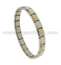 BRACELET Stahlband mit 9 mm 3 ANWENDUNGEN ARIES GOLD 750 ‰