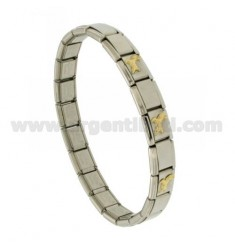BRACELET STEEL BAND WITH 9 MM 3 APPLICATIONS ARIES GOLD 750 ‰