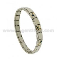 BRACELET Stahlband mit 9 mm 3 ANWENDUNGEN DREIZEHN GLAZED GOLD 750 ‰