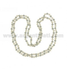 LACE OCEAN PEARL GREY AND WHITE 8 MM CM 160