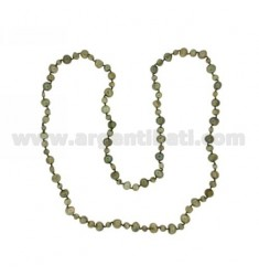 LACE GREEN PEARLS SCARAMAZZE 8.9 5.6 CM 90