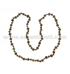 LACE BROWN PEARLS SCARAMAZZE 8.9 5.6 CM 90