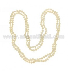 PEARLS LACE SCARAMAZZE KNOTTED FLAT 9.10 MM 180 CM