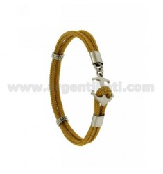 OCRA ROPE BRACELET WITH CLOSURE IN STEEL SHAPED AGAIN