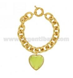 GOLDEN METAL BRACELET WITH HEART
