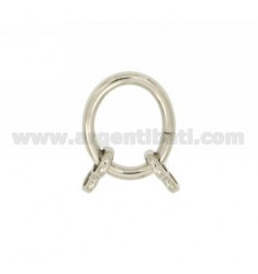 CLOSING INTELLIGENT OVAL 21x17 MM 2.5 MM WITH CANE Ottini SILVER RHODIUM TIT 925 ‰