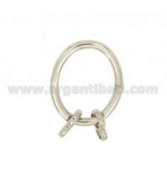 CLOSING INTELLIGENT OVAL 26X21 MM 2.5 MM WITH CANE Ottini SILVER RHODIUM TIT 925 ‰