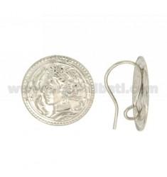 PAAR ATTACK für Ohr mit Geld und 20 mm jersey Silber Rhodium TIT 925 LIEBE ‰