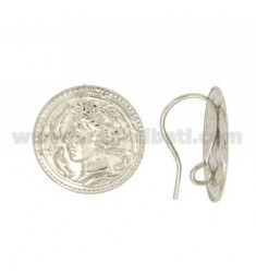 PAIR OF ATTACK FOR EARRING TO LOVE WITH MONEY AND 20 MM jersey SILVER RHODIUM TIT 925 ‰