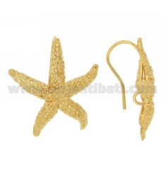 PAIR OF ATTACK FOR EARRING TO LOVE WITH STARFISH AND 27X27 MM jersey IN SILVER TIT 925 ‰