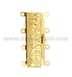 FIN CAJA 32x16 MM HAMMERED 4 CABLES EN ORO AG TIT 925 ‰