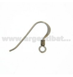 HOOK EARRING WITH SPIRAL IN SILVER RHODIUM 925