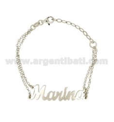 ROLO BRACELET 'CM 18 WITH NAME MARINA IN SILVER RHODIUM TIT 925 ‰