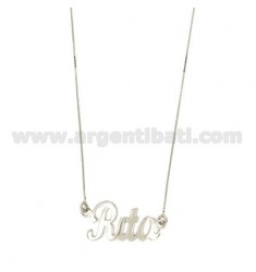 ROLO NECKLACE &39CM 45 AS RITA IN SILVER RHODIUM TIT 925 ‰