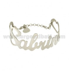 SABRINA NAMEN Sklaven.Armband in Silber 925 RHODIUM TIT
