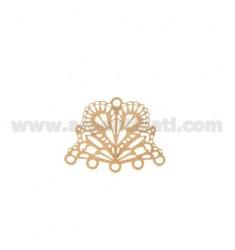 ATAQUE MM 20x16 FAN DE PENDIENTE O TERMINAL DE collar y la pulsera 5 hilos de cobre de plata TIT 925