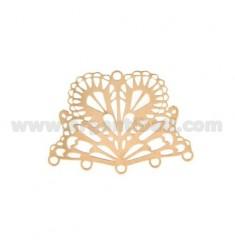 ATAQUE 30x22 MM FAN DE PENDIENTE O TERMINAL DE collar y la pulsera 5 hilos de cobre de plata TIT 925
