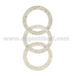 DISTANCIA 3 LLANTAS PLACA 3 mm de diámetro 23 MM PLATA RODIO TIT 925
