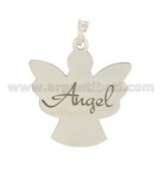 CIONDOLO ANGELO MM 27X25 ANGEL IN ARGENTO RODIATO TIT 925‰