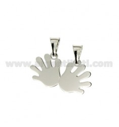 Pendant HANDS DIVISIBLE 15x22 MM SILVER RHODIUM 925 ‰