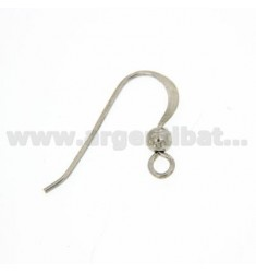 HOOK EARRING WITH BALL SILVER RHODIUM 925