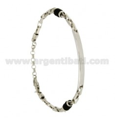 VENETIAN BRACELET EXTENDED WITH PLATE AND RUBBER WASHERS &39SIDE SILVER RIDIATO TIT 925 ‰ CM 20