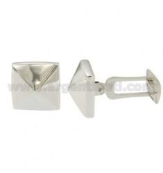 TWIN PYRAMID MM 15X15 Silber rhodiniert TIT 925 ‰