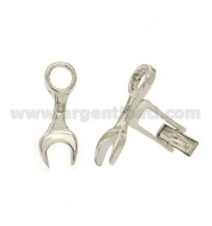 GEMINI KEY ENGLISH 26X10 MM IN AG TIT 925 RHODIUM