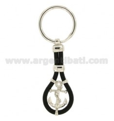 KEY RING AGAIN IN AG TIT 925 ‰ AND LEATHER