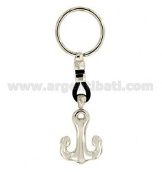 KEY RING AGAIN MM 40X30 SILVER RHODIUM 925 ‰ AND LEATHER