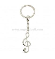 Schlüsselanhänger Schlüssel GEIGE MM 40x14 Silber rhodiniert TIT 925 ‰