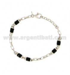 VENETIAN BRACELET EXTENDED WITH WASHERS RUBBER &39ALTERNATE SILVER RIDIATO TIT 925 ‰ CM 20