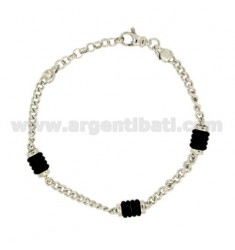 Curb BRACELET WITH RUBBER WASHERS &39ALTERNATE SILVER RIDIATO TIT 925 ‰ CM 20