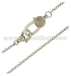 CADENA DE BOLSILLO suéter del reloj de plata del rodio CABLE TIT 925 ‰ 45 CM