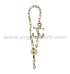 KEY RING WITH ship STILL IN SILVER RHODIUM TIT 925 ‰ WITH SPECIAL CLOSURE