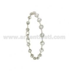 Tennis Armband TYPE CIPOLLINO 5 MM 18 cm Silber Rhodium TIT 925 ‰ und rissig Zirkone
