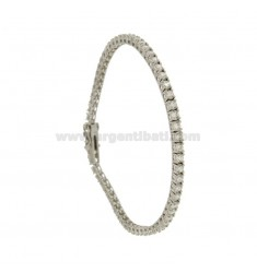 TENNIS BRACELET 3 MM SILVER RHODIUM 925 ‰ AND ZIRCONIA WHITE CM 21