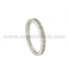 VERETTA RING WITH ZIRCONIA AND SILVER RHODIUM Vitine TIT 925 ‰ SIZE 16