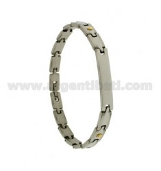 Pivoted BRACELET STEEL AND DOTS BRASS
