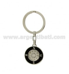 KEY RING IN STEEL WITH STEERING AND GLAZE