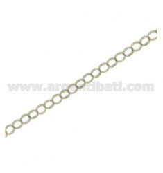 CHAIN BY THE METER ROLO 'DIAMETER MM 5 WIRE MM 1,5 IN SILVER RHODIUM TIT 925 ‰ CM 50
